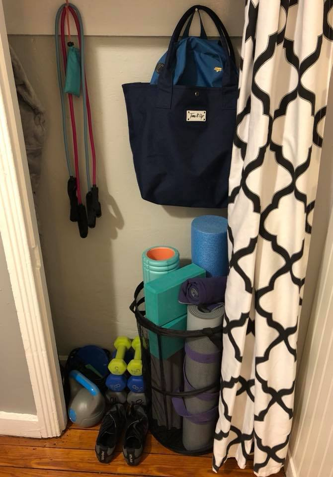How to create an at home gym in any small space