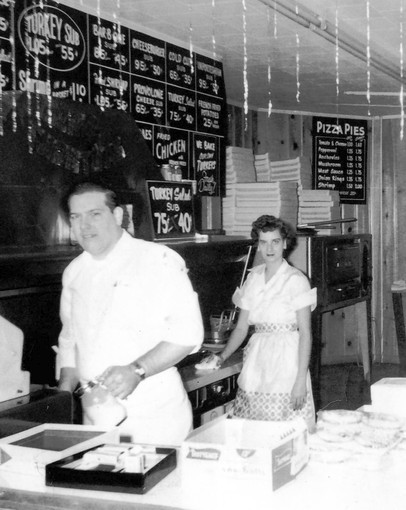 William S. Gill in his Sub Shop in the 1950's